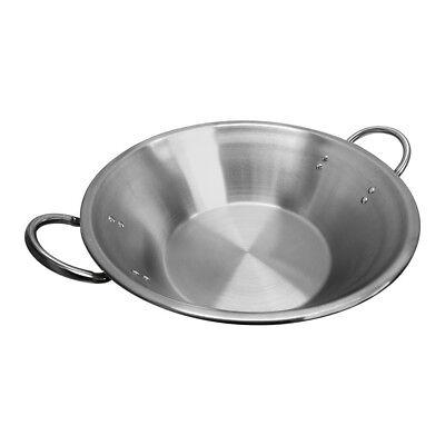 22 X 7-12 X 13 Flat Surface Carnitas Cazo Pot Cooking Wok Stainless Steel