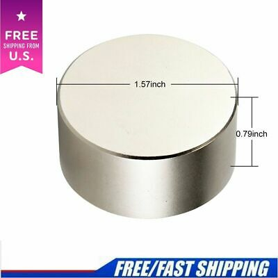 N52 Large Neodymium Rare Earth Magnet Big Super Strong Huge 40mm20mm Round Size