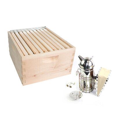 Gl-1bk-tk2 Beekeeping Beehive Brood Complete Kit With Frames Foundations Spacer
