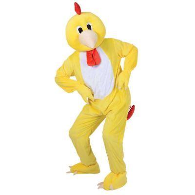 Adult Big Head Funky Little Chicken Fancy Dress Mascot Costume Farm Animal New