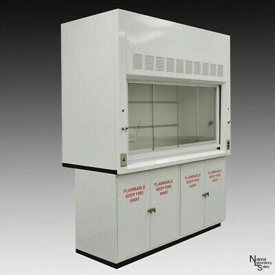6 Bench Fume Hood W Sash Valves Flammable Storage Outlet Light E1-168