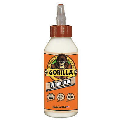 Gorilla Original Wood Glue Light Tan Milky Liquid 8 Oz 6200001 - Usa