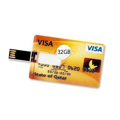 32 GB Speicherkarte in Scheckkartenform State of Qatar Visa Card USB