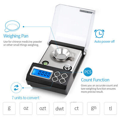 50g/0.001g Professional Digital Milligram Scale Gold Jewelry Carat Balance E3T9