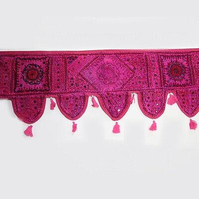Türbehang Toran Thorang Patchwork Pink Indien Wandbehang Tapestry Bollywood Z
