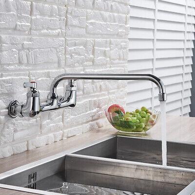 """Commercial Restaurant Kitchen 8"""" Center Wall Mount Faucet 12"""" Spout Dual Handle"""