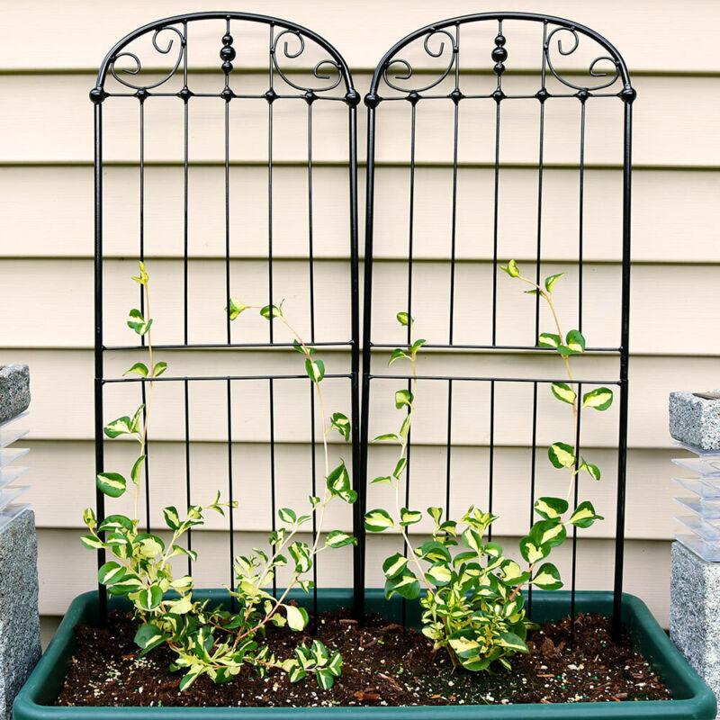 "Sunnydaze 32"" Durable Metal Wire Traditional Garden Trellis for Plants -Set of 2"