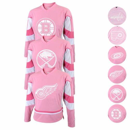 NHL Official REEBOK Replica Fashion Pink White Jersey Infant