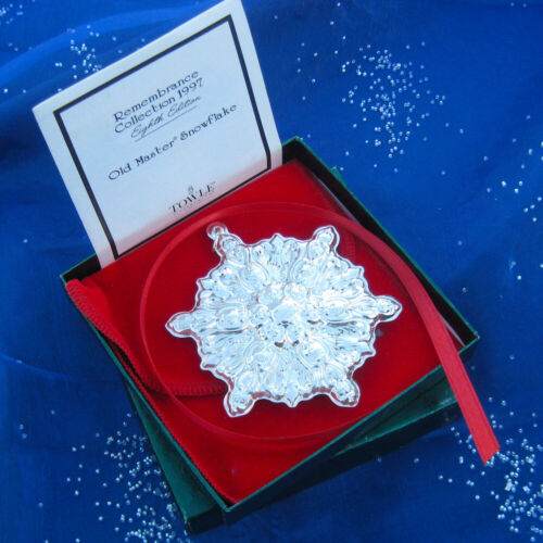 NEW • Towle 1997 Old Master SNOWFLAKE Sterling Silver Christmas Ornament 8th Ed
