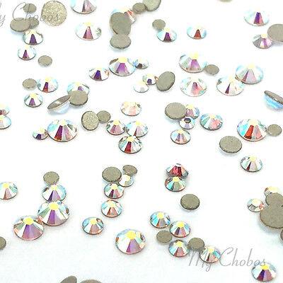 (CRYSTAL AB 001 AB 144 mixed small tiny size ss3-ss10 Swarovski Flatback nail art)