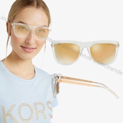 07fc2792da49d NWT ☀ Michael Kors MK2073 St Kitts 30505A Crystal Rose Gold Mirror  Sunglasses