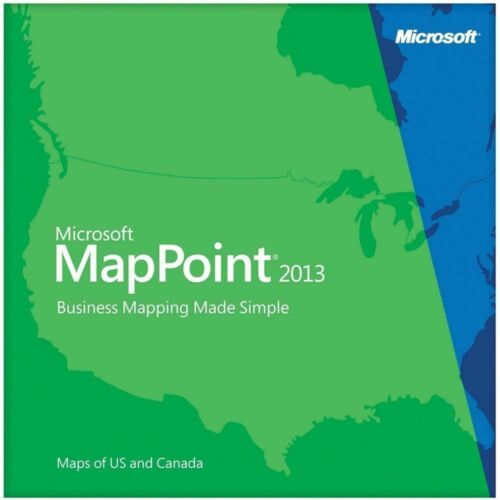 Microsoft MapPoint 2013 For 5 Pc