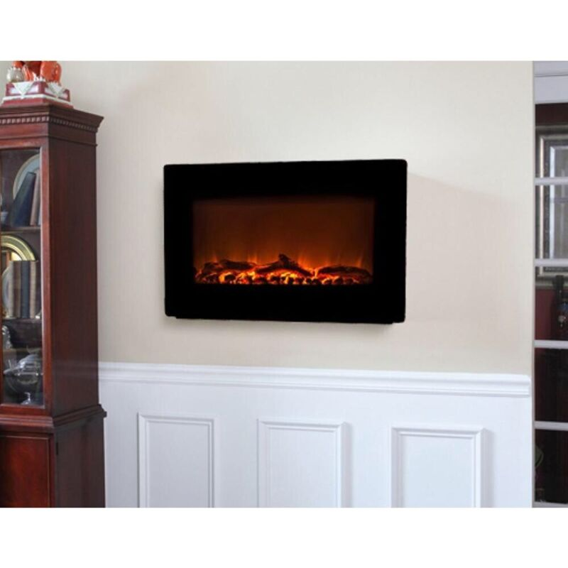 MAINSTAYS FIREPLACE HEATER. FREESTANDING OR WALL MOUNTED.
