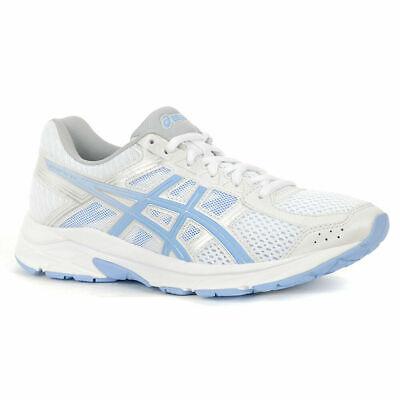 Asics Women's GEL Contend 4 White/Blue Bell Running Shoes T765N Sz 6.5 M US NEW