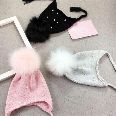 Fashion Baby Hats Autumn Winter Boys Girls Crochet Beanies Caps Pom Knit Hats