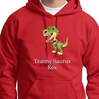 Adult Dinosaur Hoodie (Tranny Saurus Rex Funny Dinosaur T-shirt Rude Adult Humor Hoodie)