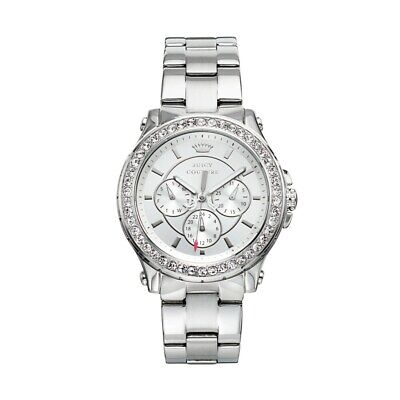 Juicy Couture Women's 1901048 Pedigree Silver Tone Chronograph Watch
