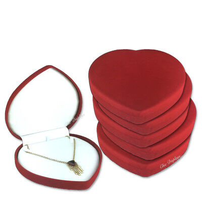 Lot Of 12 Necklace Gift Box Red Heart Box Heart Shaped Jewelry Box Hot Deal