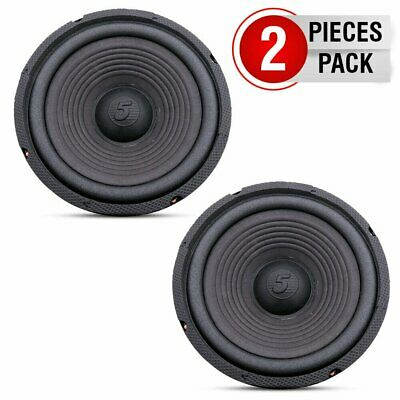 """5 Core 8"""" Woofer 72mm Magnet 400W PMPO Black Replacement Car HOME Dj Audio PAIR"""