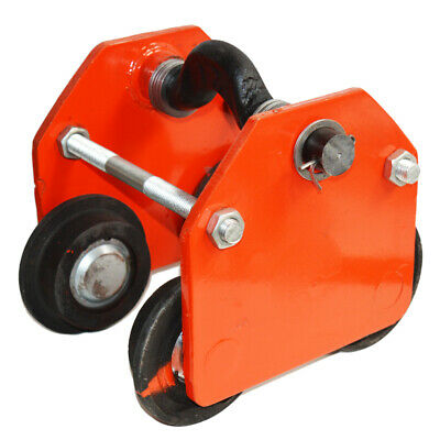 3 Ton Push Beam Track Roller Trolley Hoisting Tackle Capacity 6600lbs