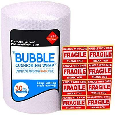 Bubble Wrap Cushioning Roll For Packing 316 12 X 32 Ft Easy-to-tear Plus