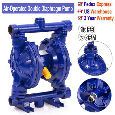 Double Diaphragm Air-operated Pump 115psi 12gpm Cast Iron Body For Industrial Us