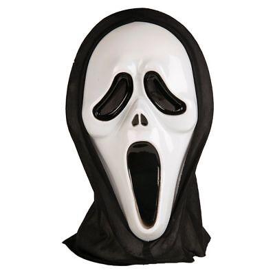 Kids Scary Halloween Hooded Scream Mask Ghost Horror Evil Vampire Mask 6+years