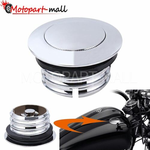Pop Up Flush Gas Cap Vented Fuel Tank For Harley Dyna Touring Softail 1982-2020