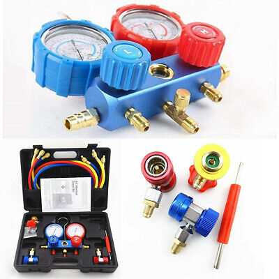 A/C Air Conditioner Manifold Gauge Refrigerant Kit Set for R134a R22 R404a R410a