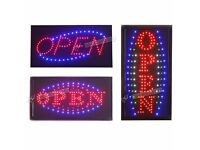 Bright LED Neon OPEN Shop Sign Light Display Window Hanging with Chain