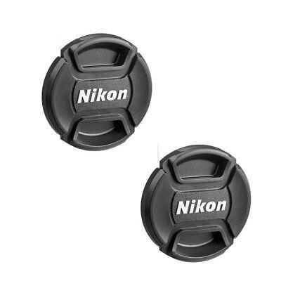 2X Nikon 52mm Lens Cap Cover for Nikon D5500 D5300 D3200 With AF-S 18-55mm Lens ()