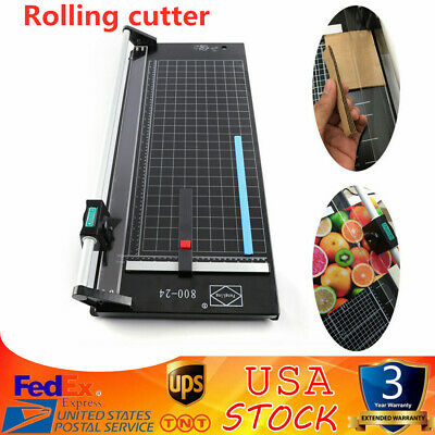24 Inch Manual Precision Rotary Photo Paper Rolling Cutter Trimmer Sharp Blade