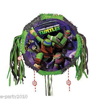 TEENAGE MUTANT NINJA TURTLES Pull String PINATA ~  Birthday Party Supplies Game - Teenage Mutant Ninja Turtles Pinata