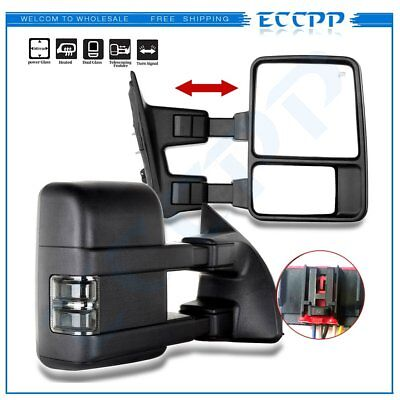 2008-2016 Ford F250-F550 Super Duty Side Mirrors Power Heated Signal Towing Pair