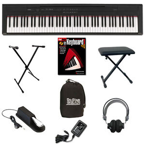 Yamaha P-105B Digital Piano Keyboard Basic Bundle NEW FREE SHIPPING