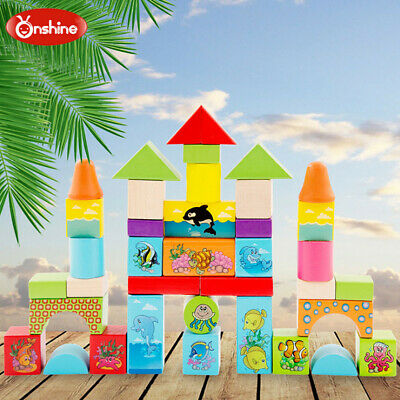 Kids Wooden Puzzle Block Toddler Toy Early Learning Educational Toy For Kids USA - $24.03