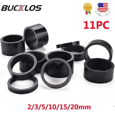 """1 1//8/"""" 28.6mm Aluminum Bike Headset Stem Spacer Kit 2//3//5//10//20//30mm Silver"""