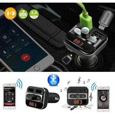 Bluetooth FM Transmitter Auto Dual USB Ladegerät Car MP3 Player Freisprechanlage
