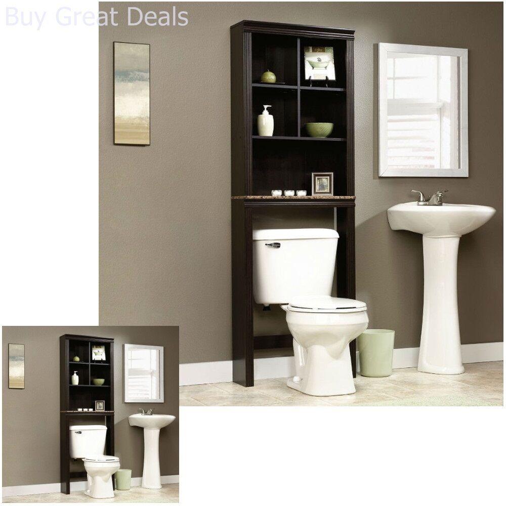 Details about Bathroom Cabinet Over The Toilet Shelves Bath Towels Storage  Organizer Shelf New