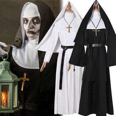 The Nun Valak Costume The Conjuring 2 Halloween Cosplay Fancy Dress Black White - Halloween Costume Black And White