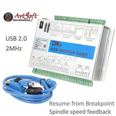 Upgrade 3 Axis Mach3 Usb 2mhz Cnc Motion Control Card Breakout Board Windows 7