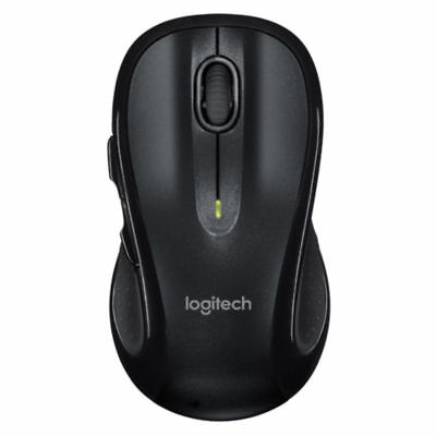 Logitech M510 Wireless Laser Mouse Dark Grey Includes USB Receiver & (Blue Wireless Laser Mouse)