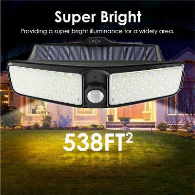 100 LED Dual Security Detector Solar Spot Light Motion Senso