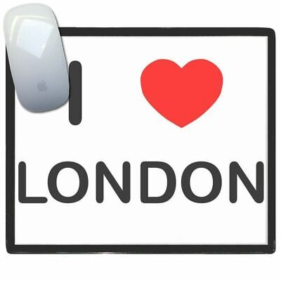 I Love London - Thin Pictoral Plastic Mouse Pad Mat Badgebeast