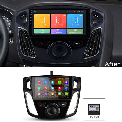 For 2012-17 Ford Focus Car Stereo Radio 9'' Android 9.1 GPS OBD Wifi w/ Canbus