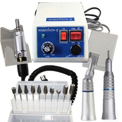 Dental Lab Marathon Micro Motor 35k Rpm N3 Straight Contra Angle Handpieceburs