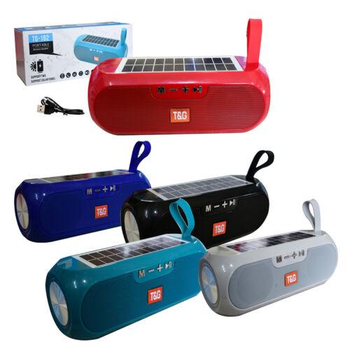 Bluetooth Speaker Wireless Stereo Solar Power Loudspeaker FM Radio Aux TF USB
