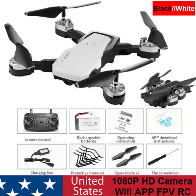 Foldable Drone1080P HD Camera Optical Flow Position WIFI FPV RC Quadcopters US