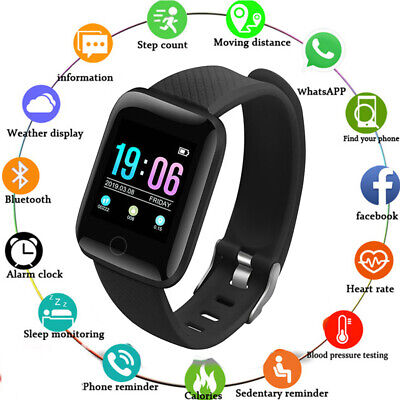 116Plus Smart Watch Heart Rate Pedometer Waterproof Fitness For iPhone Huawei