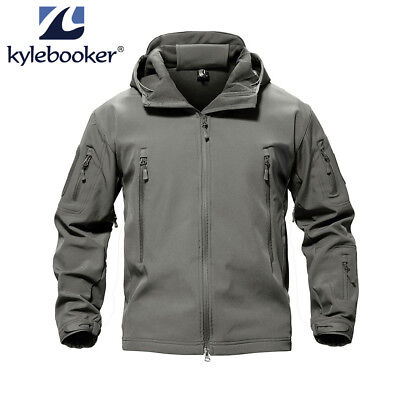 Men's Fishing Soft Shell Hunting Outdoor Jacket Waterproof Windproof Colthing ()